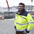 Utbyggingssjef Tor-Arne Hanssen har hektiske tider. Sist uke kunne han konstatere at første etasje av modulbygget C00 er på plass på sørsiden av UNN. Foto: Per-Christian Johansen